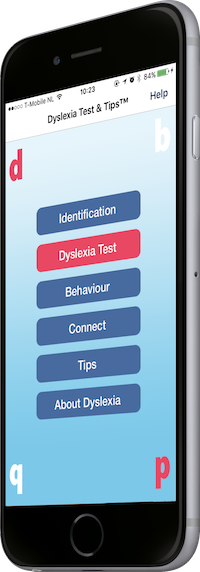 Dyslexia Test & Tips app for IOS